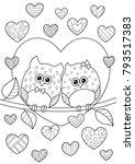 vector valentine s day doodle... | Shutterstock .eps vector #793517383