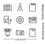 photography icon set ... | Shutterstock .eps vector #793519948