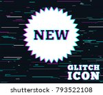 glitch effect. new sign icon.... | Shutterstock .eps vector #793522108