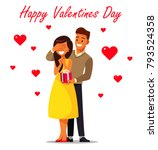 couple in love. man gives a...   Shutterstock .eps vector #793524358