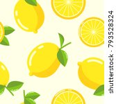 lemon pattern seamless vector | Shutterstock .eps vector #793528324