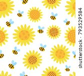 vector seamless pattern with... | Shutterstock .eps vector #793529584