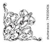classical baroque vector of...   Shutterstock .eps vector #793530436