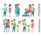 flat family having fun  baby in ... | Shutterstock .eps vector #793530943