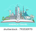 travel tourism type banner flat ... | Shutterstock .eps vector #793530970