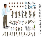 flat style isometric body parts ... | Shutterstock .eps vector #793531006