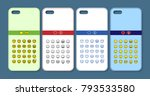 phone case design. abstract... | Shutterstock .eps vector #793533580