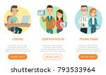 flat page web design template... | Shutterstock .eps vector #793533964