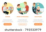 flat page web design template... | Shutterstock .eps vector #793533979