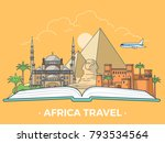 travel tourism type banner flat ... | Shutterstock .eps vector #793534564