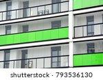 facade of a modern apartment