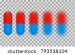 medical closed red blue capsule ... | Shutterstock .eps vector #793538104