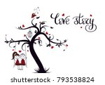 love story template for banner... | Shutterstock .eps vector #793538824
