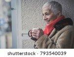 senior elderly lady having her... | Shutterstock . vector #793540039