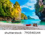 landscape of natural sea beach... | Shutterstock . vector #793540144