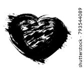 hand drawn vector heart with... | Shutterstock .eps vector #793544089