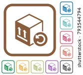 package return simple icons in... | Shutterstock .eps vector #793544794