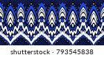 geometric folklore ornament.... | Shutterstock .eps vector #793545838