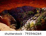 view of red rocks from cave in... | Shutterstock . vector #793546264
