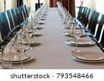 table setting for a banquet or... | Shutterstock . vector #793548466