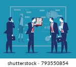 business people with analysis... | Shutterstock .eps vector #793550854