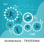 lots of running people inside...   Shutterstock .eps vector #793553464