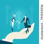 rpa robotic progress... | Shutterstock .eps vector #793553536