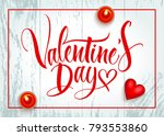 valentine's day background with ... | Shutterstock .eps vector #793553860
