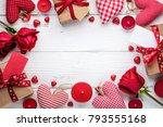 valentine background with gift... | Shutterstock . vector #793555168