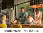 family in the kitchen  | Shutterstock . vector #793555216