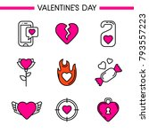Valentine's Day Icon Set. Love...