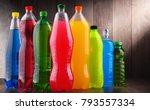 plastic bottles of assorted...   Shutterstock . vector #793557334