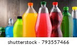 plastic bottles of assorted... | Shutterstock . vector #793557466