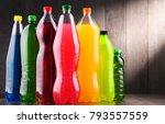 plastic bottles of assorted... | Shutterstock . vector #793557559
