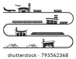travel among different... | Shutterstock .eps vector #793562368