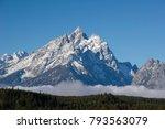 a view of grand teton in grand... | Shutterstock . vector #793563079