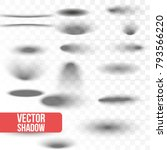 set oval shadow with soft... | Shutterstock .eps vector #793566220