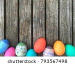 easter holiday colorful... | Shutterstock . vector #793567498