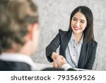 two of business man and asian... | Shutterstock . vector #793569526