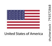 flag of usa with name icon....   Shutterstock .eps vector #793572868