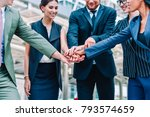 close up of business people... | Shutterstock . vector #793574659