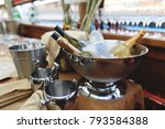 champagne vodka and wine in an...   Shutterstock . vector #793584388