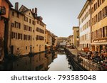annecy  france   april 8  2017. ... | Shutterstock . vector #793585048