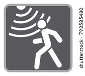 motion detector solid icon ... | Shutterstock .eps vector #793585480