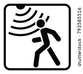 motion detector solid icon ... | Shutterstock .eps vector #793585516