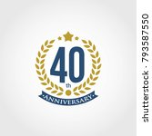 anniversary sign collection ... | Shutterstock .eps vector #793587550