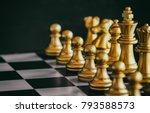 the king in battle chess game... | Shutterstock . vector #793588573