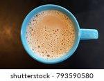 top view earl grey milk tea | Shutterstock . vector #793590580