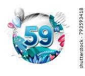 59th anniversary background... | Shutterstock .eps vector #793593418