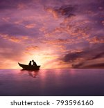 love concept  silhouette of... | Shutterstock . vector #793596160